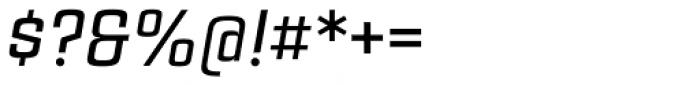 Estricta Medium Italic Font OTHER CHARS