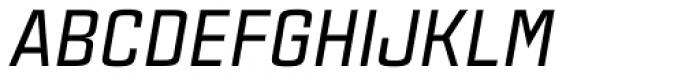 Estricta Medium Italic Font UPPERCASE