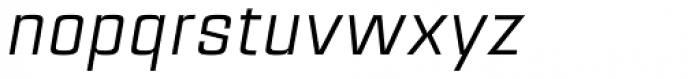 Estricta Regular Italic Font LOWERCASE