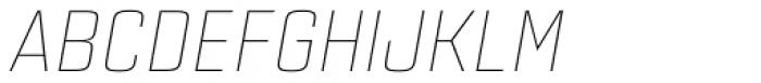 Estricta Thin Italic Font UPPERCASE