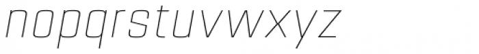 Estricta Thin Italic Font LOWERCASE