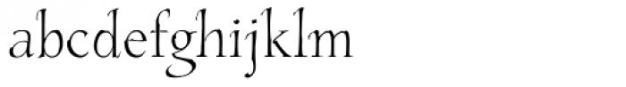 Estro Light Font LOWERCASE