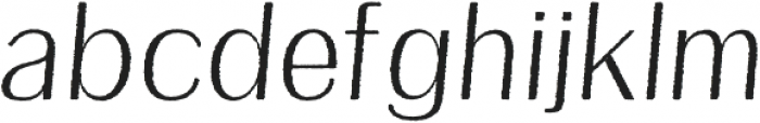 Etheline Sans Rough Oblique otf (400) Font LOWERCASE