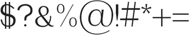 Etheline Sans otf (400) Font OTHER CHARS