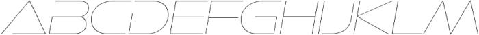 Ethnocentric UltraLight Italic otf (300) Font UPPERCASE