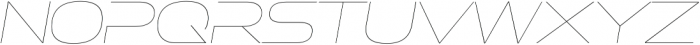 Ethnocentric UltraLight Italic otf (300) Font LOWERCASE