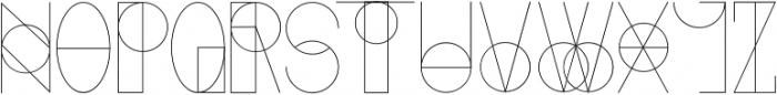 Etric ttf (400) Font UPPERCASE