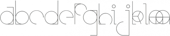 Etric ttf (400) Font LOWERCASE