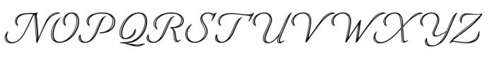 Eterea Handtooled Caps Italic Font UPPERCASE