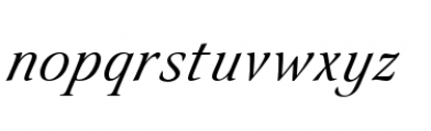 Eterea LC Handtooled Caps Italic Font LOWERCASE