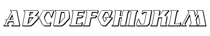 Eternal Knight 3D Italic Font UPPERCASE