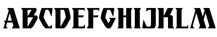 Eternal Knight Condensed Font UPPERCASE