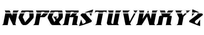 Eternal Knight Laser Italic Font UPPERCASE