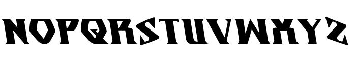Eternal Knight  Leftalic Font UPPERCASE