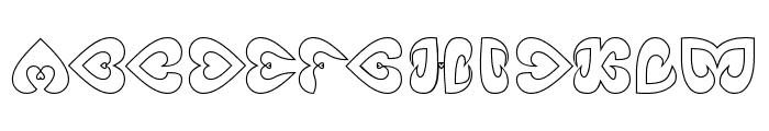 Eternal Love-Hollow Font UPPERCASE