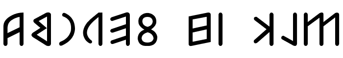 Etruscan mid/late Bold Font LOWERCASE