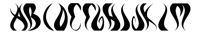 eternal flame Font UPPERCASE