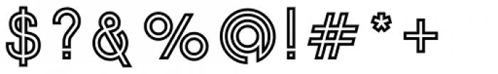 Etalon Bold Stroked Font OTHER CHARS