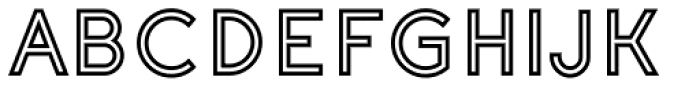 Etalon Bold Stroked Font UPPERCASE