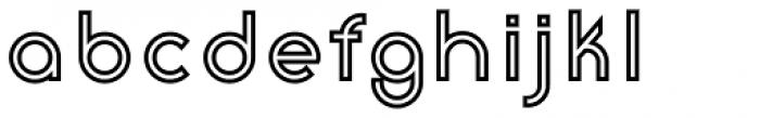 Etalon Bold Stroked Font LOWERCASE