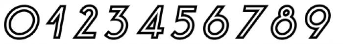 Etalon ExtraBold Italic Stroked Font OTHER CHARS