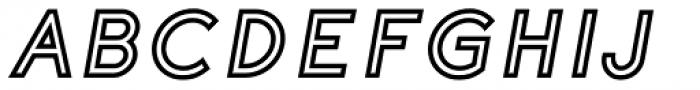 Etalon ExtraBold Italic Stroked Font UPPERCASE