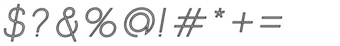 Etalon Light Italic Stroked Font OTHER CHARS