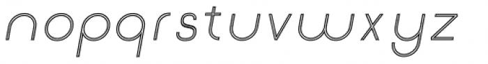 Etalon Light Italic Stroked Font LOWERCASE