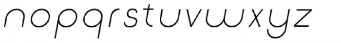 Etalon Light Italic Font LOWERCASE
