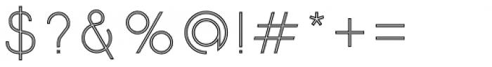 Etalon Light Stroked Font OTHER CHARS