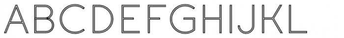Etalon Light Stroked Font UPPERCASE