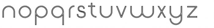 Etalon Light Stroked Font LOWERCASE