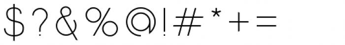 Etalon Light Font OTHER CHARS