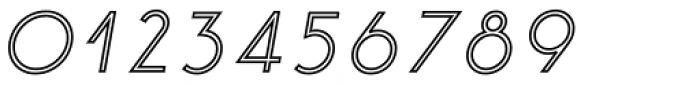 Etalon Medium Italic Stroked Font OTHER CHARS