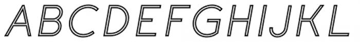 Etalon Medium Italic Stroked Font UPPERCASE