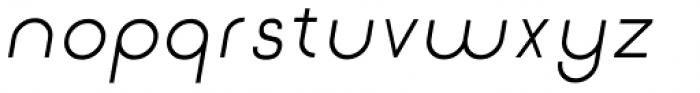 Etalon Medium Italic Font LOWERCASE