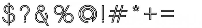 Etalon Medium Stroked Font OTHER CHARS