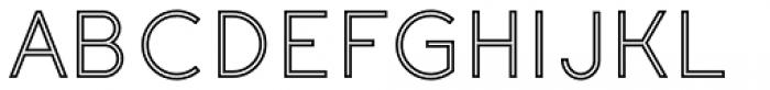 Etalon Medium Stroked Font UPPERCASE