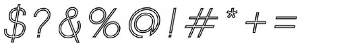 Etalon Regular Italic Stroked Font OTHER CHARS