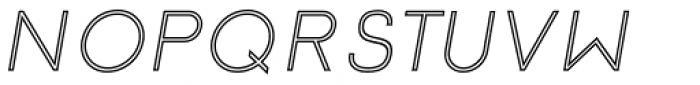 Etalon Regular Italic Stroked Font UPPERCASE