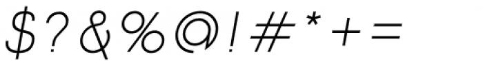 Etalon Regular Italic Font OTHER CHARS
