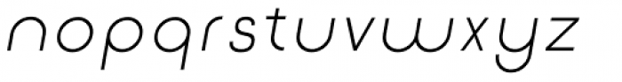 Etalon Regular Italic Font LOWERCASE