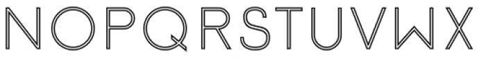 Etalon Regular Stroked Font UPPERCASE