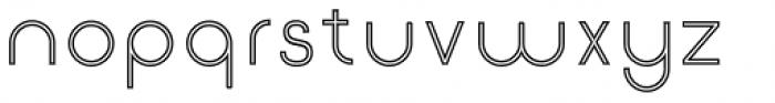 Etalon Regular Stroked Font LOWERCASE