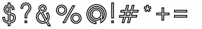 Etalon SemiBold Stroked Font OTHER CHARS
