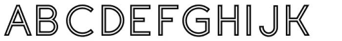 Etalon SemiBold Stroked Font UPPERCASE