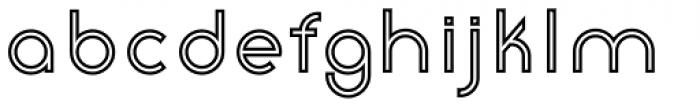 Etalon SemiBold Stroked Font LOWERCASE