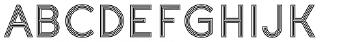 Etalon Stripes Font UPPERCASE