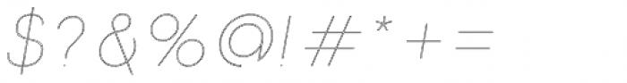 Etalon Thin Italic Stroked Font OTHER CHARS