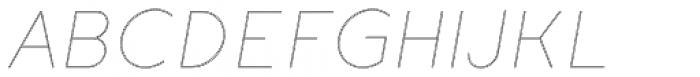 Etalon Thin Italic Stroked Font UPPERCASE
